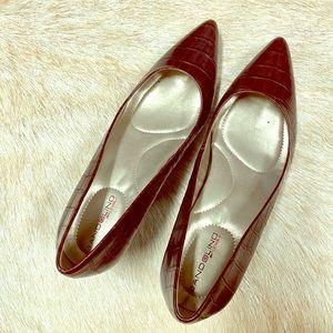 """Bandolino 8.5/2.5"""" Heel Faux Snake Skin Print Shoe"""